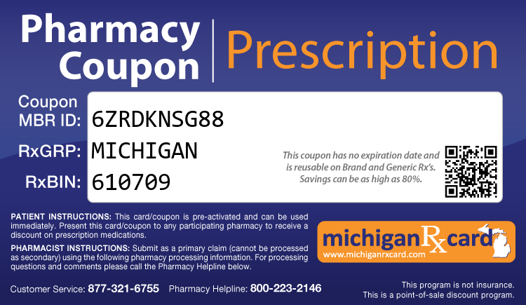 Michigan Rx Card - Free Prescription Drug Coupon Card